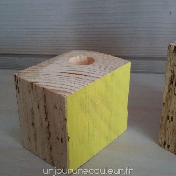 Emplacement de la bougie décentré sur les bougeoirs Cubic