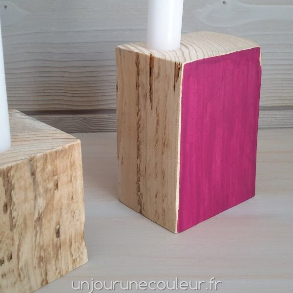 Bougeoir Cubic Fuchsia