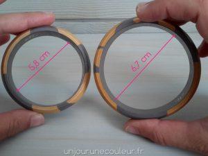 Taille des bracelets en bois