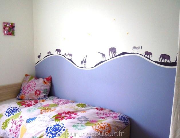 une d coration murale unique pour une chambre d 39 enfant personnalis e un jour une couleur. Black Bedroom Furniture Sets. Home Design Ideas