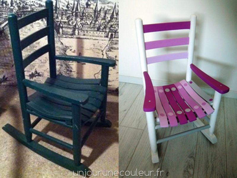 Un fauteuil pour enfant qui balance grave un jour une for Chaise a bascule enfant