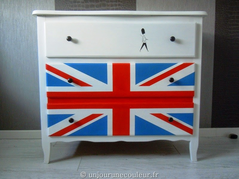 Commode London Union Jack Au Scotch De Masquage Et Garde Royal