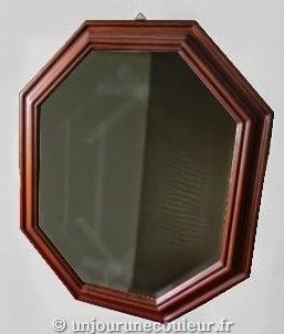 Miroir mouluré relooké AVANT