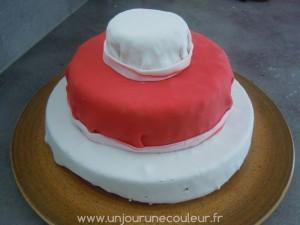le gâteau prêt à être décoré