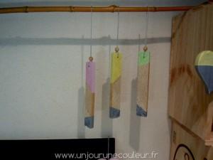 Décorations à suspendre en bois de bout