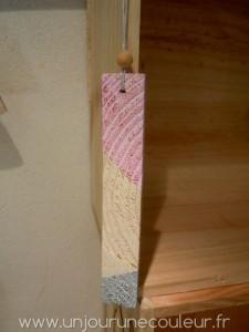 Petite suspension pour sapin de noel rose et argenté