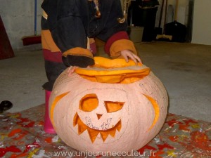 La citrouille d'Halloween terminée