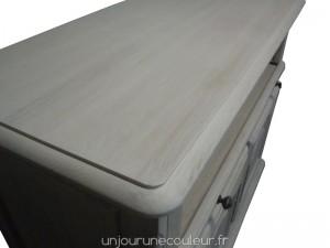 Plateau de meuble télé patiné