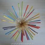 Mikado déco multicolores pour diffuseur de parfum d'intérieur