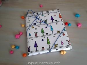 Paquet cadeau à colorier