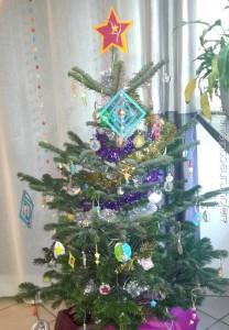 Sapin multicolore pour Noël