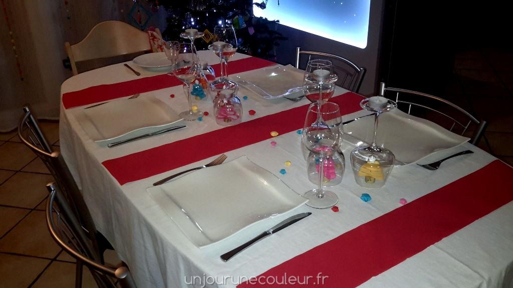 Déco table rouge pour Noël