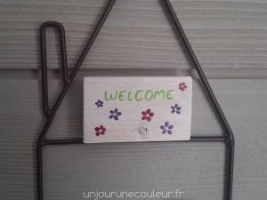 Panneau Bienvenue à suspendre