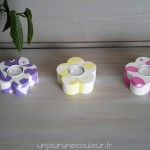 Bougeoirs printaniers couleurs tendres