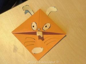 Marque-pages animaux réalisés par les enfants