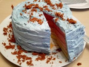 Gâteau arc-en-ciel de princesse