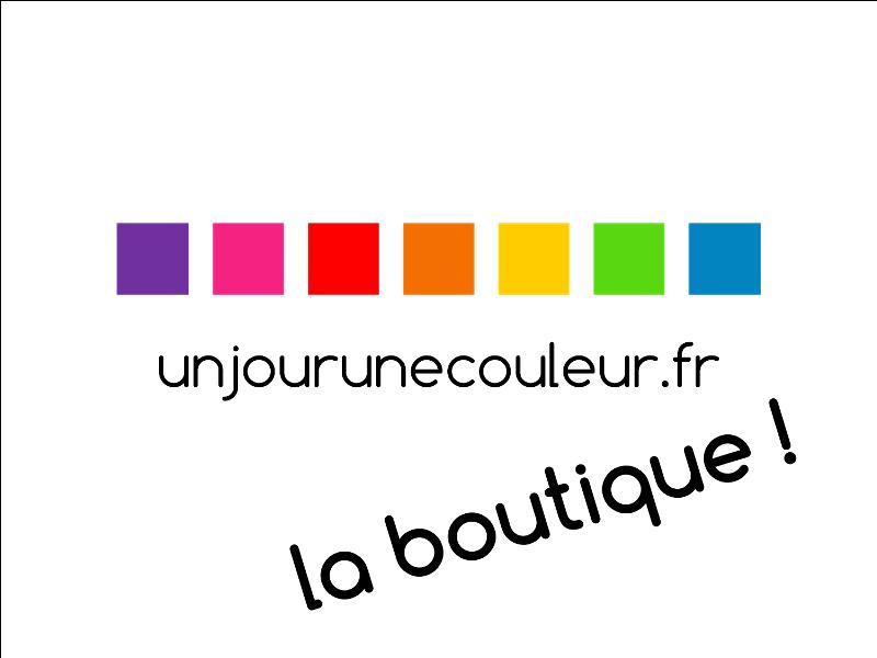 La boutique en ligne Un jour une couleur