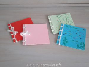 Atelier créatif carnets personnalisés avec reliure japonaise