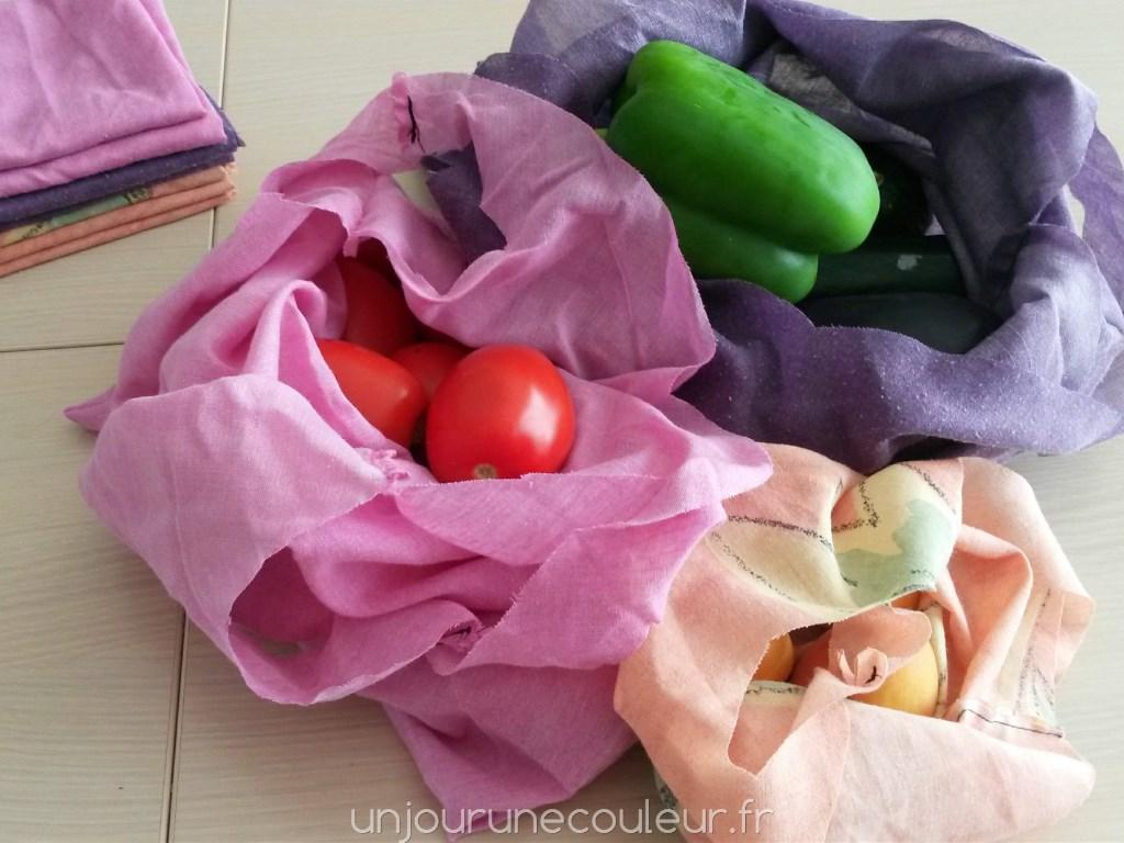 Des sacs à légumes en tissu pour remplacer les sachets plastiques des magasins