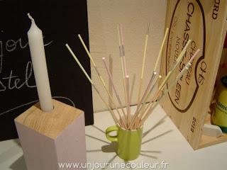Bâtonnets décoratifs en bois