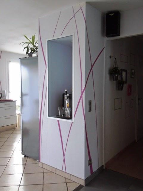 mur entre cuisine et couloir