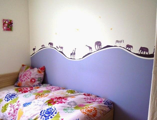 Une d coration murale unique pour une chambre d 39 enfant for Pochoir chambre enfant