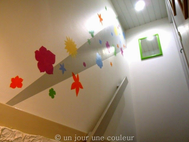 Comment rendre vivante une cage d 39 escalier une brass e - Faire une bande de peinture sur un mur ...