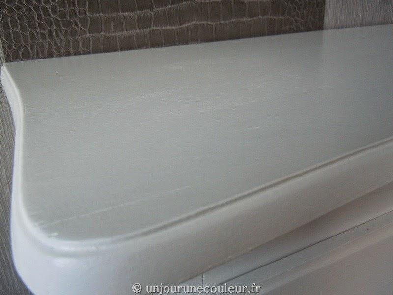 plateau commode blanc