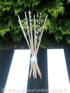 Bâtonnets décoratifs noir, blanc et argent pour une déco sobre et originale
