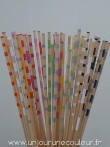 Choix de couleurs pour les bâtonnets déco façon Mikado