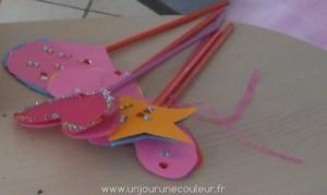 Fabrication de baguettes magiques de princesses