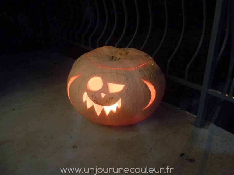 Citrouille d'Halloween effrayante