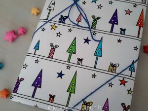 Emballage personnalisé papier cadeau à colorier