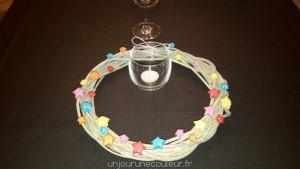 Couronne étoilée en décoration de table
