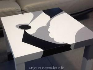 Table basse Ikea relookée