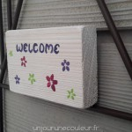 Welcome et fleurs de printemps
