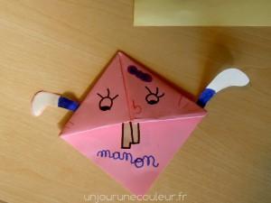 Marque-pages origami customisé en lapin