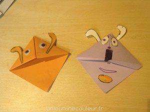 Marque-pages lapin origami