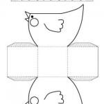 Panier-Poulette Pâques printable