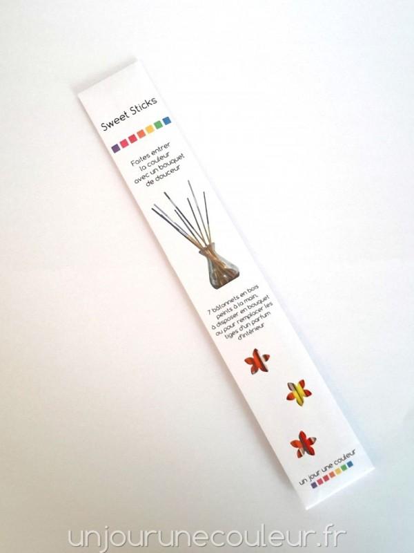 L'emballage en papier Sweet Sticks un jour une couleur