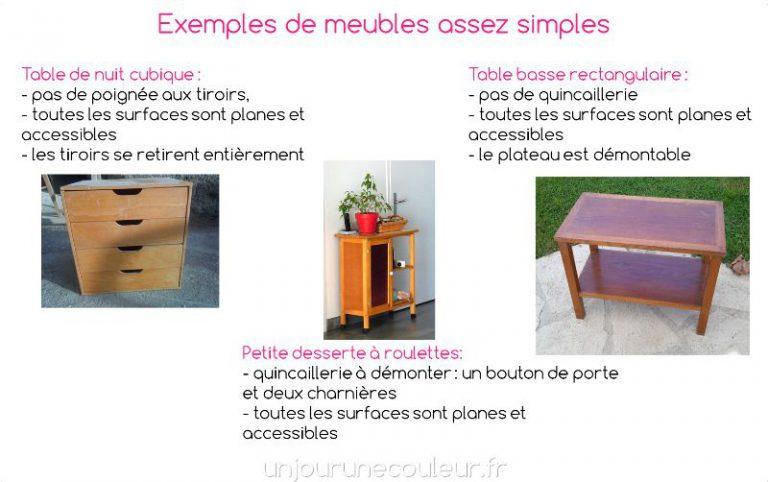 Exemples de meubles simples pour un premier meuble à relooker