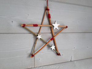Etoile de Noel en branches décorée à votre gout