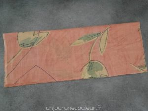 Pliez en deux sur l'axe de symétrie du sac et tracez les anses et l'ouverture du haut