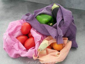 Retour de marché : mes sacs a legumes en tissus