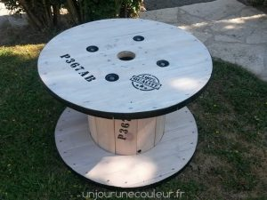 Table basse en touret relooké