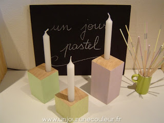 Bougeoirs collection un jour pastel