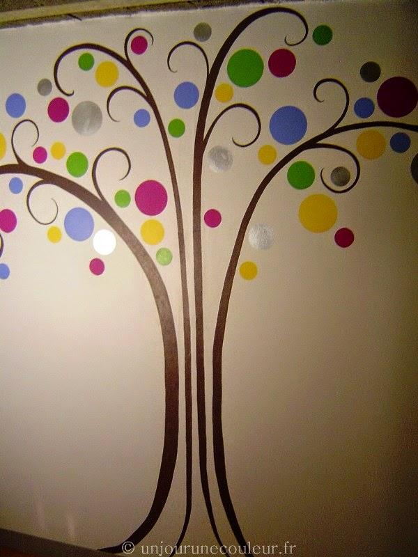 peinture murale arbre stylisé